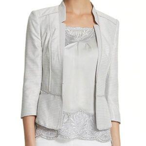 WHBM Shimmer Tweed Jacket w/ silk camisole